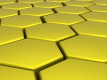 Yellow-Orange Hexagons Stock Image