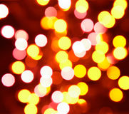 Yellow and orange holiday bokeh Royalty Free Stock Photography