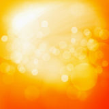 Yellow orange light bokeh background. Texture Royalty Free Stock Photo