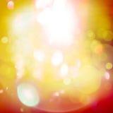 Yellow orange light reflections bokeh background, Stock Photo