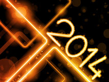 2014 Yellow Orange  Lines Background Neon Laser Stock Photos
