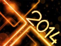 2014 Yellow Orange  Lines Background Neon Laser Stock Photos