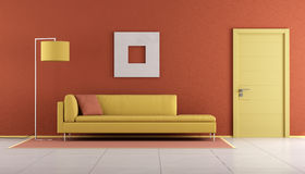 Yellow and orange lounge Stock Images