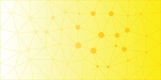 Yellow Orange Low Poly Vector Background Royalty Free Stock Photography