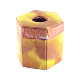 Yellow and orange mulberry paper box isolation Stock Images