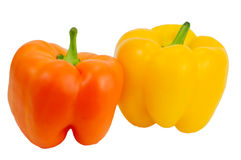 Yellow and Orange Pepper. A yellow and orange pepper Royalty Free Stock Image
