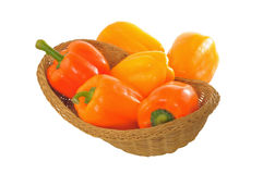Yellow and orange peppers Stock Photography
