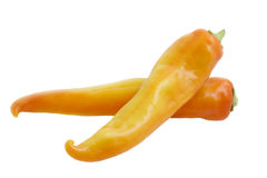 Yellow and orange peppers Stock Photos