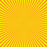 Yellow-orange rays of light in radial arrangement. Sunshine beams theme. Abstract background pattern. Vector Stock Photo