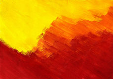 Yellow - orange - red abstract. Tempera painting royalty free stock photos