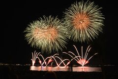 Yellow Orange and Red Fireworks during Nighttime Royalty Free Stock Image