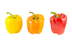 Yellow, orange and red peppers Royalty Free Stock Images