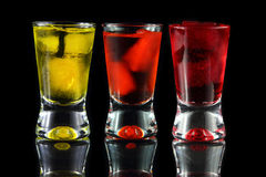 Yellow, orange and red shots Royalty Free Stock Photos