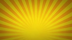 Yellow and Orange Rotating Sunburst Animated Looping Background stock video footage