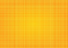 Yellow Surface Squares geometric background. Yellow orange small wall tiles background. Little squares grid backdrop with sand or desert color Royalty Free Stock Photo