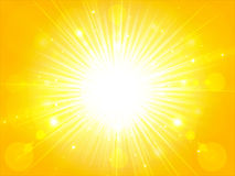 Free Yellow Orange Summer Sun Light Burst. Glittering Summer Sun, Background With Copy Space, Vector Stock Images - 96737124