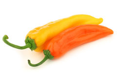 Yellow and orange sweet pepper Stock Images