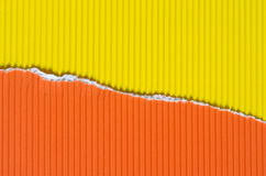Yellow and orange torn paper background texture Royalty Free Stock Photography
