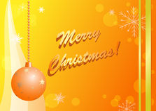 Yellow and orange vector christmas card Stock Image