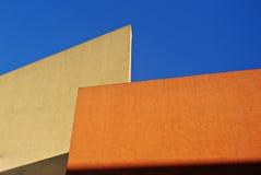 Yellow and Orange Walls. Yellow and Orange Minimalist Walls Royalty Free Stock Photos