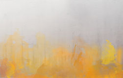 Yellow and orange watercolor abstract background royalty free stock images