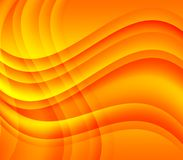 Yellow orange waves and swirls Stock Photo