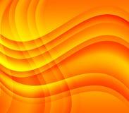 Yellow orange waves and swirls stock photo