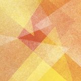 Yellow orange and white background with abstract triangle layers with transparent texture Royalty Free Stock Image
