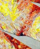 Yellow Orange and White Tile Mosaic Royalty Free Stock Image
