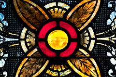 Yellow Orb in Stained Glass Royalty Free Stock Photography