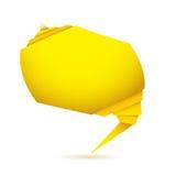 Yellow Origami element Stock Photo