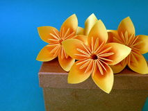 Origami flowers Royalty Free Stock Images
