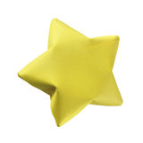 Yellow origami star Stock Image