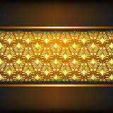 Yellow ornament Stock Image