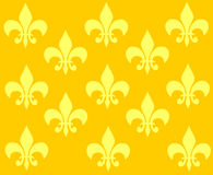 Yellow ornament wallpaper Stock Photo