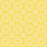 Yellow Ornamental Seamless Line Pattern Stock Photos