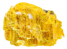 Yellow orpiment rock isolated Stock Image