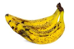 Yellow over ripe bananas royalty free stock images