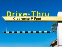 Yellow Overhead McDonald's Drive-Thru Sign Stock Photos