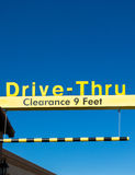 Yellow Overhead McDonald's Drive-Thru Sign Stock Photography
