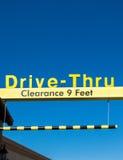 Yellow Overhead McDonald's Drive-Thru Sign Stock Photography