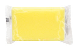 Yellow pack. Yellow production pack of rectangle napkins Royalty Free Stock Images