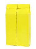 Yellow package box isolated Stock Photo