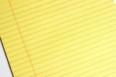 Yellow Pad of Paper to write on Stock Images