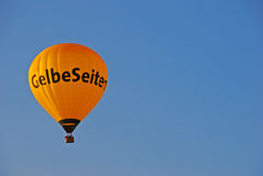 Yellow Page Hot Air Balloon Stock Photo