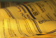 Yellow Pages 1 Stockbilder