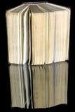 Yellow Pages d'un vieux livre de papier Photographie stock libre de droits