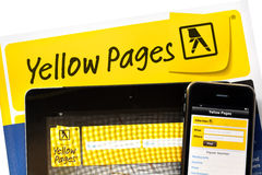 Yellow Pages en ligne Image libre de droits