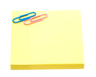 Yellow pages of notebook Stock Images