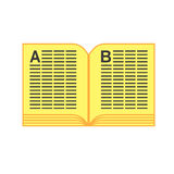 Yellow pages phone book Stock Images